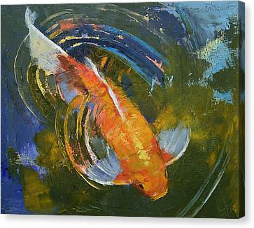 Water Ripples Canvas Print by Michael Creese