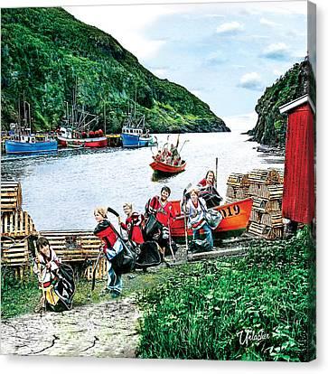 Water Taxi  Canvas Print by Elizabeth Urlacher