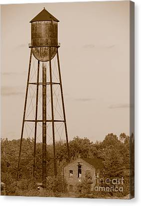 Water Tower Canvas Print by Olivier Le Queinec