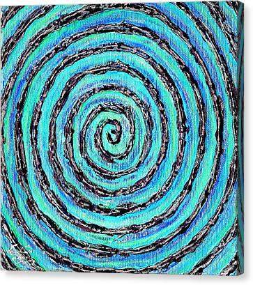 Water Vortex Canvas Print by Carla Sa Fernandes