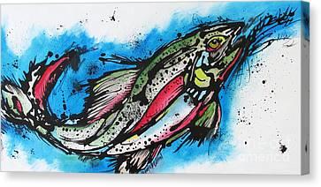 Water Way Canvas Print by Nicole Gaitan