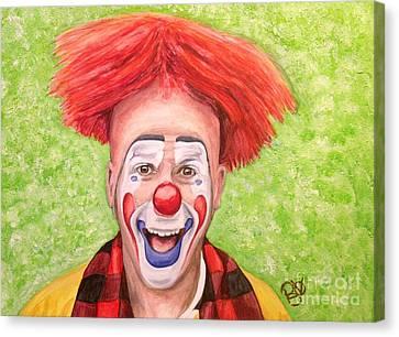 Watercolor Clown #8 Steve Copeland Canvas Print by Patty Vicknair