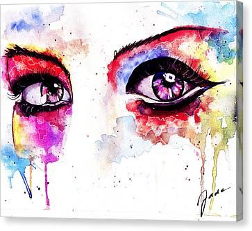 Watercolor Eyes II Canvas Print by Elisabeth Vania