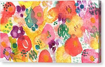 Watercolor Garden Canvas Print by Linda Woods