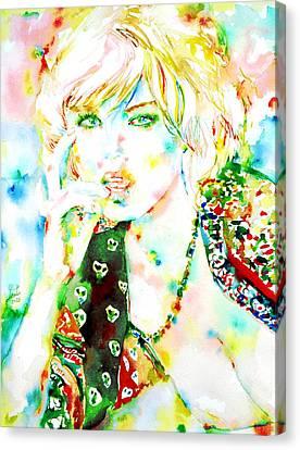Watercolor Woman.3 Canvas Print by Fabrizio Cassetta
