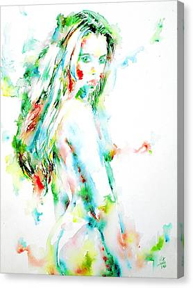 Watercolor Woman.7 Canvas Print by Fabrizio Cassetta