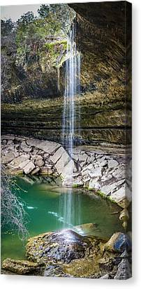 Waterfall At Hamilton Pool Canvas Print by David Morefield