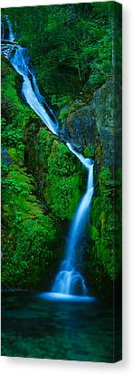 Waterfall In A Forest, Sullivan Falls Canvas Print by Panoramic Images