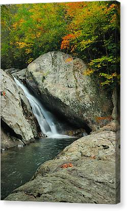 Waterfall In West Fork Of Pigeon River Canvas Print by Photography  By Sai