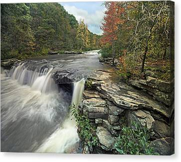 Waterfall Mulberry River Arkansas Canvas Print by Tim Fitzharris