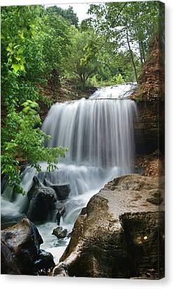 Waterfall Tanyard Creek Arkansas Canvas Print by Tim Fitzharris