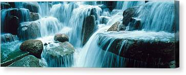 Waterfall Temecula Ca Usa Canvas Print by Panoramic Images