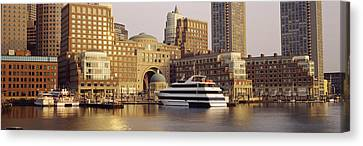 Waterfront, Boston, Massachusetts, Usa Canvas Print by Panoramic Images
