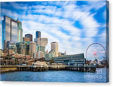 Waterfront Skyline Canvas Print by Inge Johnsson