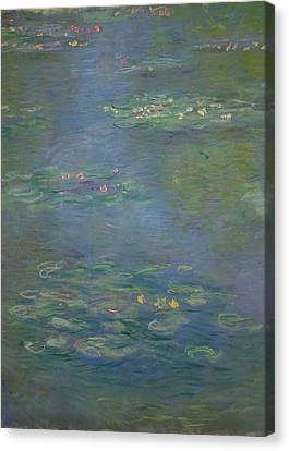 Waterlilies, Detail, 1903 Canvas Print by Claude Monet