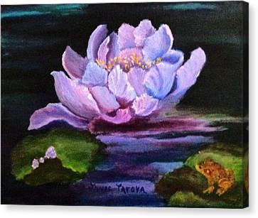 Waterlillie Canvas Print by Janis  Tafoya