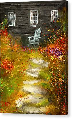 Watson Farm - Old Farmhouse Painting Canvas Print by Lourry Legarde