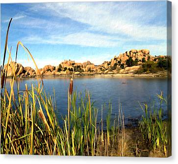 Watson Lake Arizona Canvas Print by Kurt Van Wagner