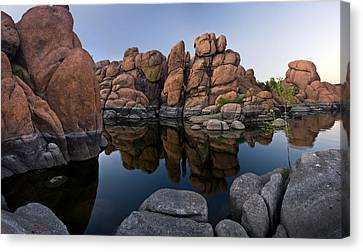 Watson Lake Arizona Reflections Canvas Print by Dave Dilli