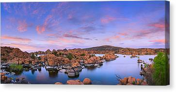 Watson Lake In Prescott - Arizona Canvas Print by Henk Meijer Photography