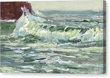 Wave Action Canvas Print by Patricia Seitz