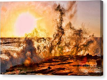 Wave Crasher La Jolla By Diana Sainz Canvas Print by Diana Sainz