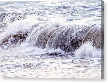 Wave In Stormy Ocean Canvas Print by Elena Elisseeva