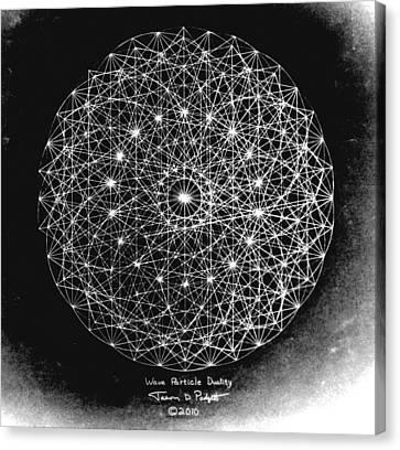 Wave Particle Duality Black White Canvas Print by Jason Padgett