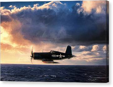 Wave Runner Canvas Print by Peter Chilelli