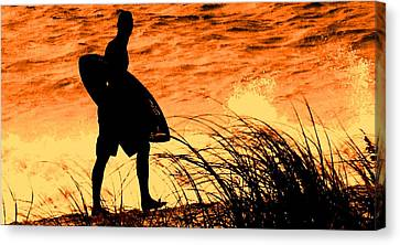 Wave Search Canvas Print by Ian  MacDonald