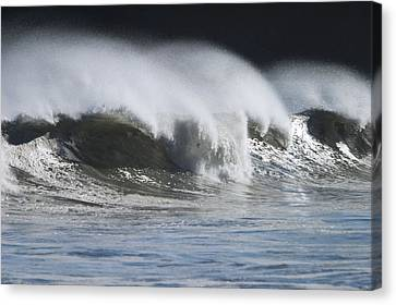 Waves Crashing On Mill Bay Beach Kodiak Canvas Print by Kevin Smith