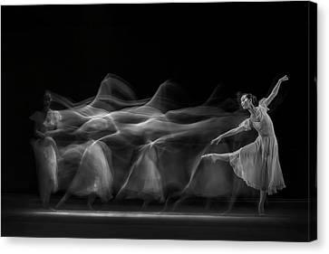 Waves Of Balerina Canvas Print by Antonyus Bunjamin (abe)