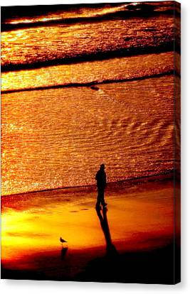 Waves Of Gold Canvas Print by Karen Wiles