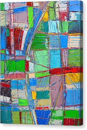 Waves Of Spirit - Abstract Original Oil Painting Canvas Print by Ana Maria Edulescu