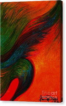 Waves Of The Wind Canvas Print by Fanny Diaz