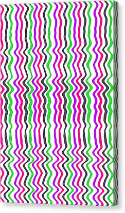 Wavy Stripe Canvas Print by Louisa Hereford