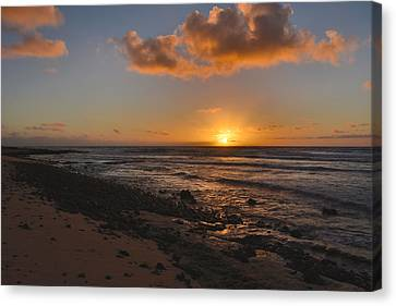 Wawamalu Beach Sunrise - Oahu Hawaii Canvas Print by Brian Harig