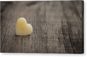 Wax Heart Canvas Print by Aged Pixel