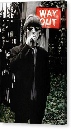 Way Out  George Harrison Canvas Print by Iconic Images Art Gallery David Pucciarelli