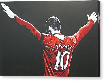 Wayne Rooney - Manchester United Fc 2 Canvas Print by Geo Thomson