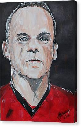 Wayne Rooney Canvas Print by John Halliday