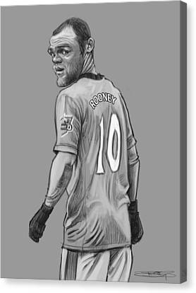 Wayne Rooney Canvas Print by Sri Priyatham