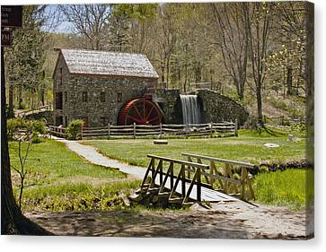 Wayside Grist Mill 8 Canvas Print by Dennis Coates