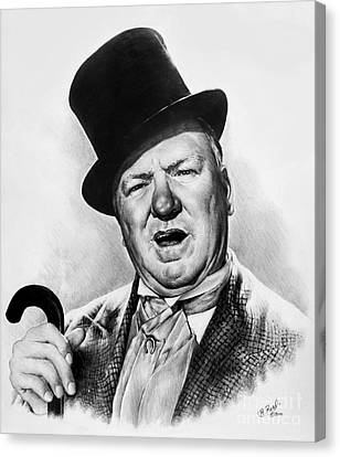Wc Fields My Little Chickadee Canvas Print by Andrew Read
