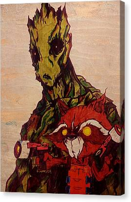 We Are Groot  Canvas Print by Leighann Taylor