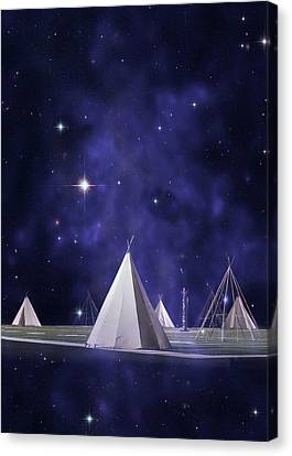 We Are One Tribe Canvas Print by Laura Fasulo