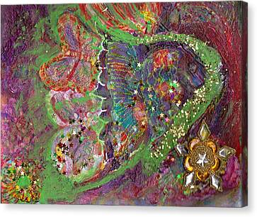 We Be-ling Together Canvas Print by Anne-Elizabeth Whiteway