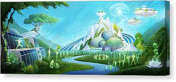 We Choose Paradise Canvas Print by George Atherton
