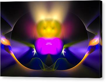 We Come In Peace Colorful Digital Art Canvas Print by Matthias Hauser