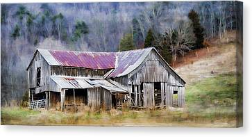 Weathered Barn Canvas Print by Kathy Jennings